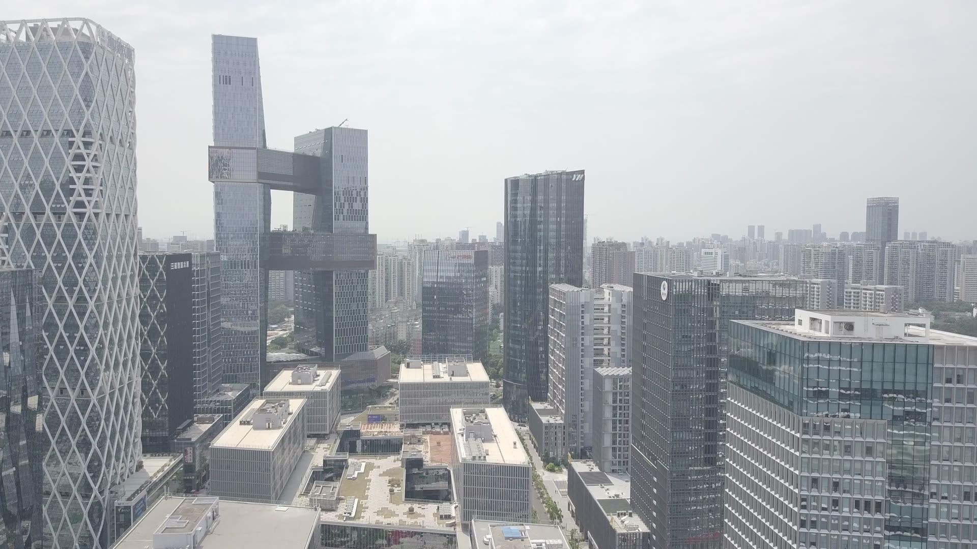 深圳軟件產業基地航拍、CBD中心區、深圳騰訊總部